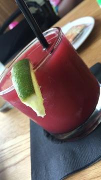 Strawberry Jalepeno margarita
